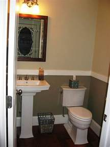 half bathroom design half bath with 2 tone paint for the home