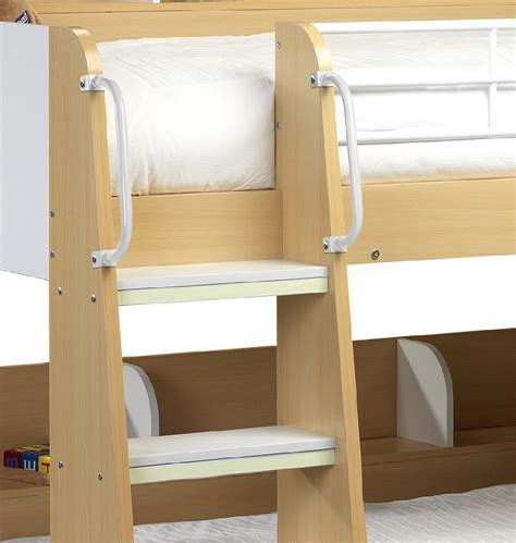 Colorado Bunk Bed Betternowm Co Uk Domino Maple And White Wooden Bunk Bed With 2 X Mattresses