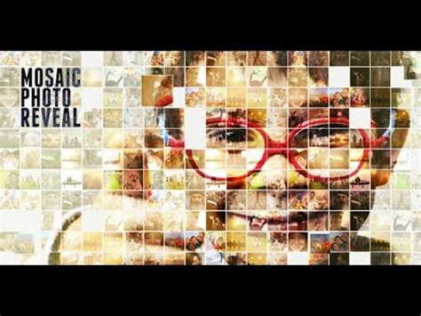 Mosaic Photo Reveal After Effects Template Youtube Photo Reveal After Effects Template