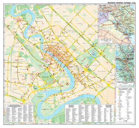 baghdad map map baghdad