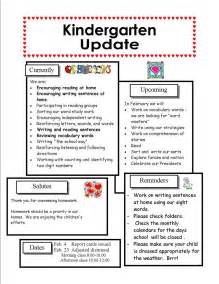 kindergarten newsletter template best photos of february preschool newsletter sles