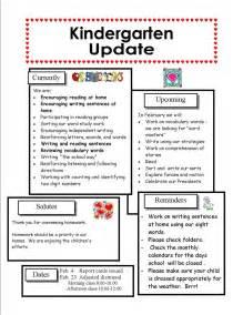 Kindergarten Newsletter Template by Best Photos Of February Preschool Newsletter Sles