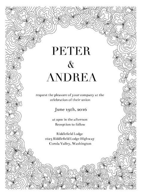 doodle order letterpress digital wedding invitations