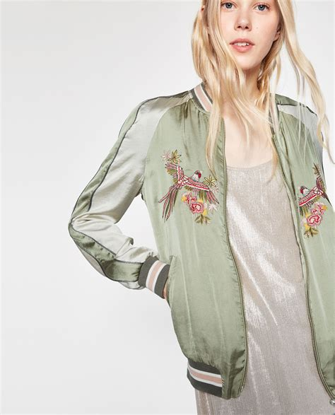 Zara Bird by Zara Bird Embroidered Bomber Jacket Fashion