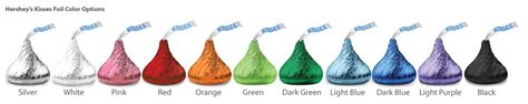 hershey kisses colors personalized birthday hershey s kisses