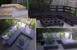 How To Make Patio Furniture With Pallets by How To Make Pallet Patio Furniture Diy Amp Crafts Handimania