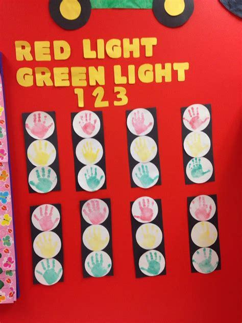 handprint traffic lights  images teacher classroom