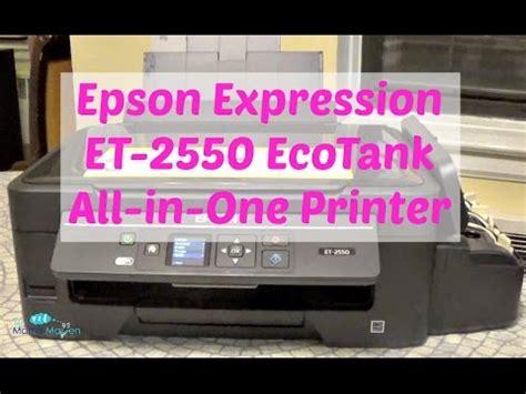 Review Epson Ecotank Consumentenbond unboxing look epson expression et 2550 ecotank doovi