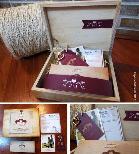 invitaciones de boda originales telegrama de bodas tarjeta de invitaci 243 n boda vintage en caja de madera con telegrama paperie bakery cel