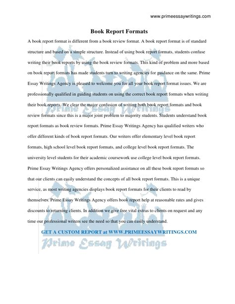one page book report template book report formats prime essay writings 9 5 page