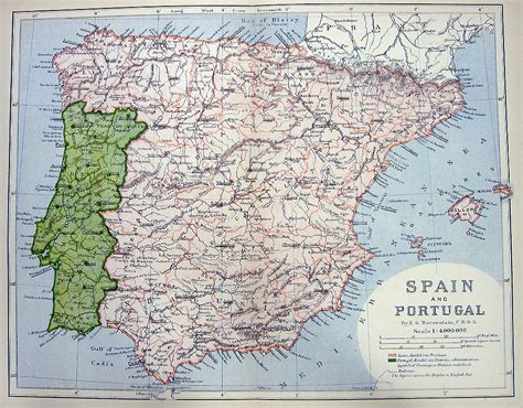 map of spain and portugal map of south of and spain