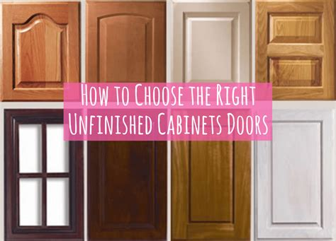 cabinet doors how to choose how to choose the right unfinished cabinets doors