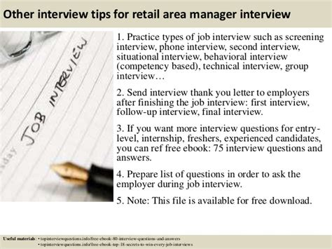 top 10 retail area manager questions and answers