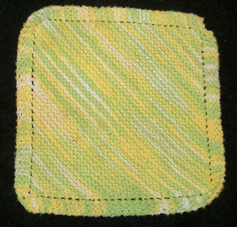 diagonal knit dishcloth pattern diagonal dishcloth by cherokeecfiregirl on deviantart