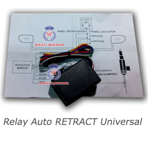 Motor Retract Spion Modul Spion Spion Lipat All New Berkualitas modul auto retract spion universal alarm mobil dan gps