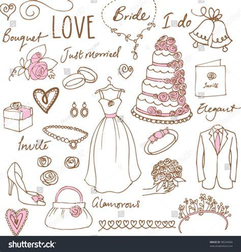 wedding doodle vector free wedding doodles sketchy vector illustration stock vector