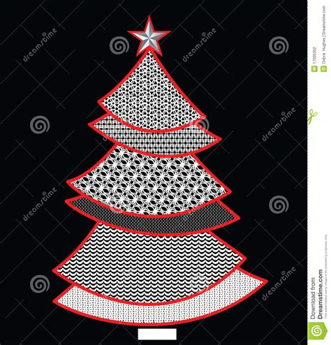 christmas tree grove pattern lace pattern christmas tree stock vector image 17005302