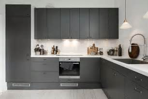 awesome Charcoal Grey Kitchen Cabinets #1: Dark-grey-kitchen3.jpg