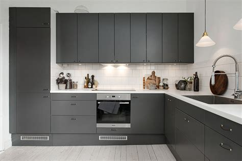 dark gray cabinets kitchen dark grey kitchen via cocolapinedesign com kitchens