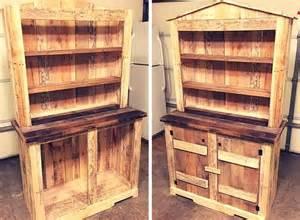 Vintage Entryway Bench Diy Pallet Sideboard Or Kitchen Cabinet