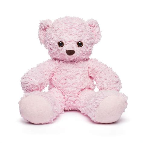 light pink teddy bear teddy bear toy pink plush teddy bear organic teddy