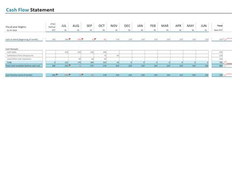 sba flow statement template flow statement