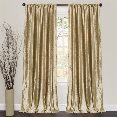 curtains velvet lush decor velvet dream gold 84 inch curtain panel pair