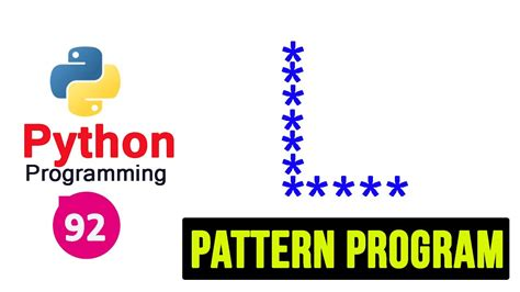 dominion pattern works inc python pattern programs printing stars in l shape youtube