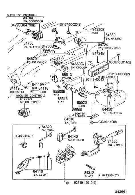 2007 toyota 4runner headlight diagram toyota auto parts