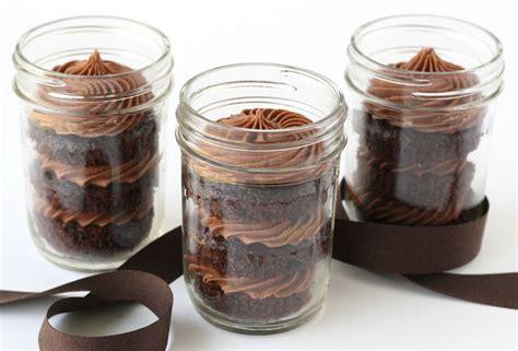 chocolate cupcakes in a jar glorious treats