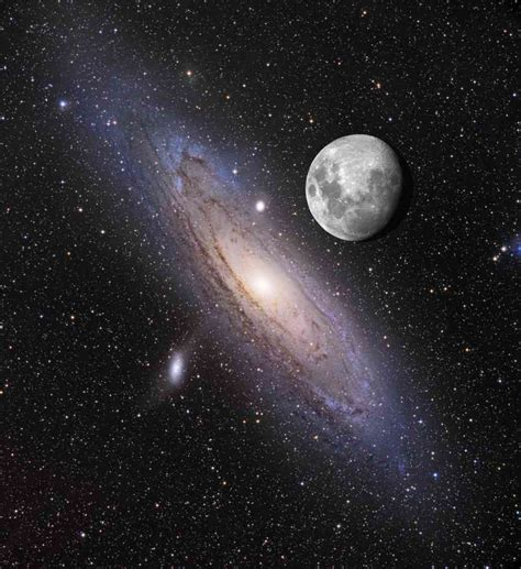 How Many Light Years Away Is The Moon by If Andromeda Were Brighter This Is What You D See Wait