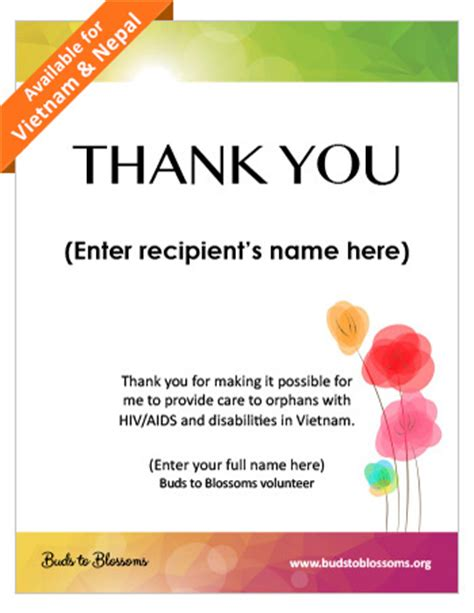 thank you certificates templates buds to blossoms fundraise resources and downloads