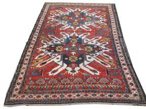 Rug by Gelaberd Rug 19th Century Eagle Kasak Zadah Antique