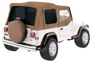 1988 Jeep Wrangler Soft Top Spice 1988 1995 Jeep Wrangler Yj Replacement Soft Top