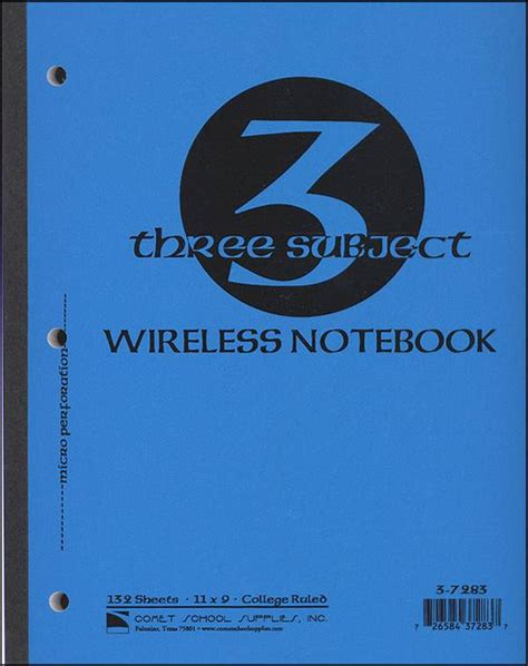 3 section notebook wireless 3 section notebook 120 perforated sheets