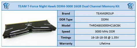 Memory Pc Team T Hawk 16gb Ddr4 Pc24000 3000mhz Black team t hawk ddr4 3000 16gb memory kit review