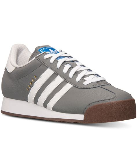 lyst adidas s samoa casual sneakers from finish line in white for