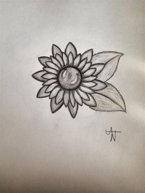 simple sunflower tattoo sunflower simple expressions leaves