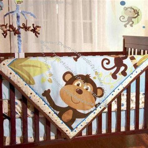 Animal Themed Crib Bedding Custom Monkeys Baby Boy S 4pcs Animal Themed Nursery Crib Bedding Set 1109757694