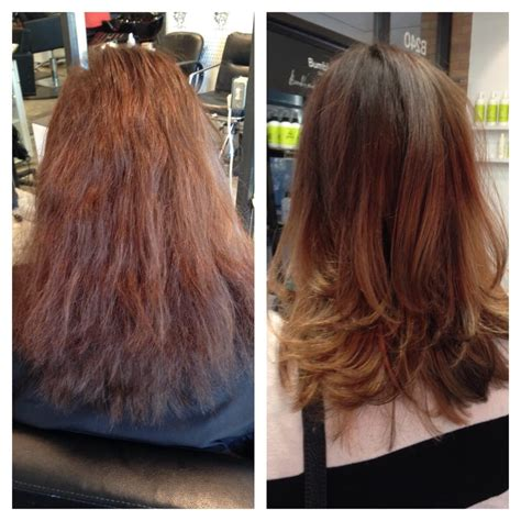 haircut before or after brazilian blowout before after by sharon balayage haircut brazilian