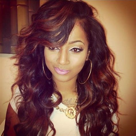 weave hairstyles going to the side curly weave hairstyles with side bangs jpg quot weave