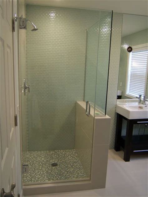 Glass Wall For Shower Stall 25 Best Ideas About Half Wall Shower On