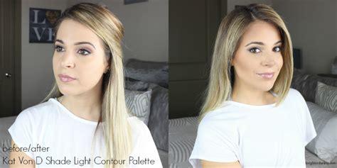 contour light sculpting before and after d shade light contour palette 2 minute tutorial