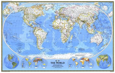 map geo national geographic world map 1988 maps