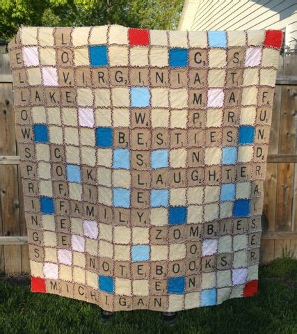 how many o in scrabble o sew many rags custom scrabble rag quilt