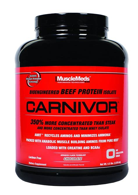 Beef Protein review on musclemeds carnivor beef protein heavy bulking