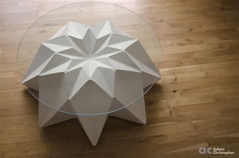 Concrete Origami - outdoor concrete coffee table by adam christopher