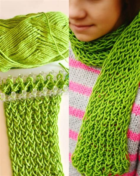 easy loom knitted scarf wonderful diy easy loom knitted scarf