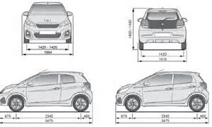 Peugeot 108 Dimensions Peugeot 108 Dimensions Caract 233 Ristiques Techniques