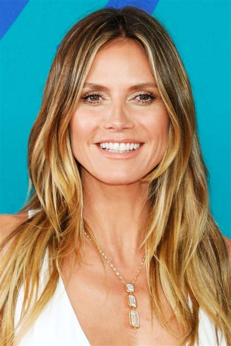 what colour is heidi klum s hair 18 celebrity balayage hair colors best balayage